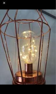 rose gold fairy light night table light