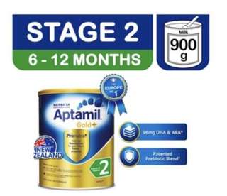 Aptamil Gold+ Follow On Milk Formula - Stage 2 (900g)