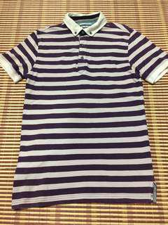 Stripe polo tee