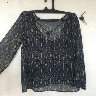 cakra blouse black