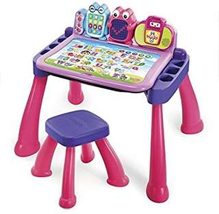 🚚 (Pre-Order)  VTech Touch and Learn Activity Desk Deluxe, Pink