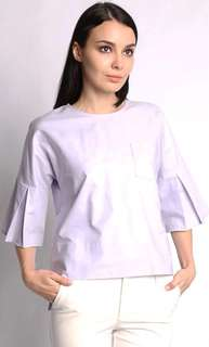 BOXY BLOUSE IN LILAC by Mimpi Kita