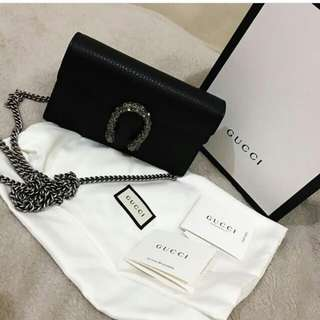 👉IMUT - GUCCI Dionysus Mini Black #jj@d