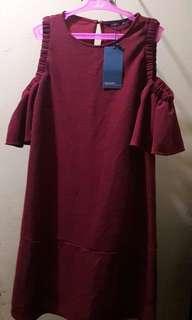 Maroon dress from Malaysia