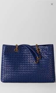 Bottega Veneta Blue Tote Bag