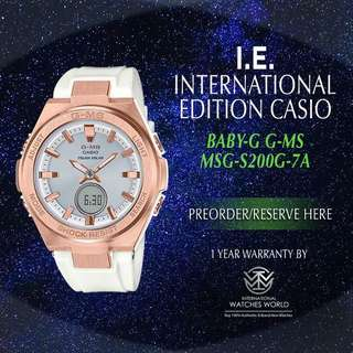 CASIO INTERNATIONAL EDITION BABY G G-MS MSG-S200G-7A ROSE GOLD