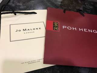 🚚 Poh heng and jo Malone paper bag