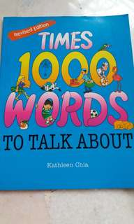 Children- My First 1000 words/ Times Giant Book of 1000/4000 words