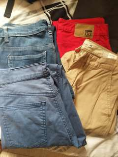 4 pairs of Pants