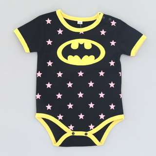 🚚 BRAND NEW WITH TAG, CLEAR STOCK SERIES, SHORT SLEEVE BATMAN MARVEL HERO ROMPERS FOR BABY TODDLER CHILDREN KIDS COTTON