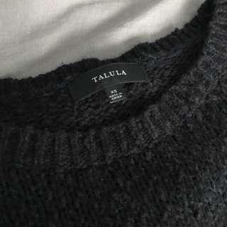 Talula (Aritzia) Knit, navy blue