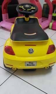 Yellow VW Beetle Toy Car