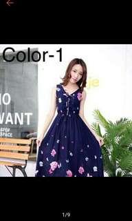 Fashion Long Dress Floral Maxi Dress