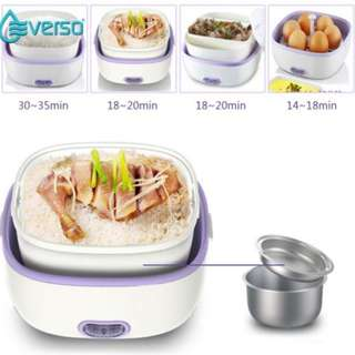 Electric Lunch Box Mini Rice Cooker, Food Steamer