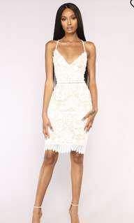 Fashion Nova Large White Lace Dress