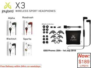 JayBird: X3 Wireless