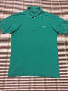 Lacoste Polo tee green size 3