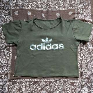 Crop top- Army Green