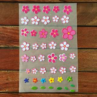 Puff Stickers (flowers)