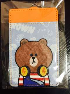 Student MRT Bus Card Holder Keychain ~ Line Brown Bear