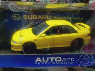 1/18 AUTOart - Subaru Impreza WRX STi GC8 Type R (2 doors, Yellow)