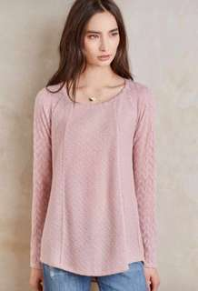 Anthropology Knit Lace Top
