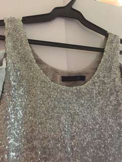 Sparkly Gray Sexy Dress