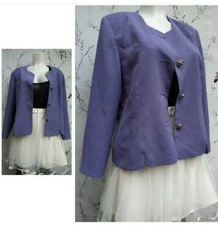 Cornflower Blue Padded Blazer