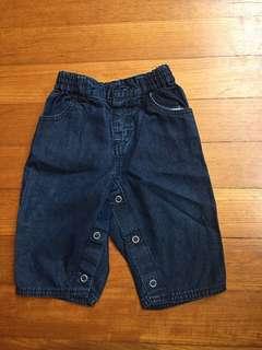 Gap baby jeans, 6-12m