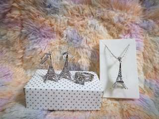 Eiffel Tower Jewellery Set