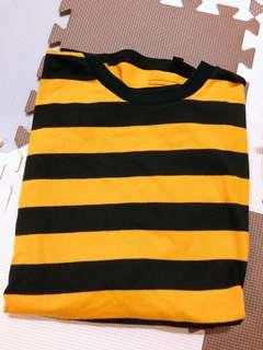 🚚 蜜蜂紋路長版T