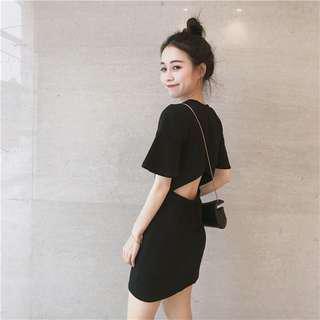 🚚 ✨[INSTOCK] open back tee / t shirt dress