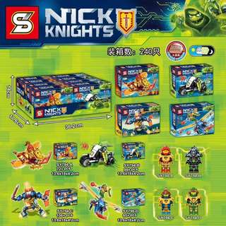 SY™ 794A-D Nexo Knights Mini Vehicles and Mechs Sets