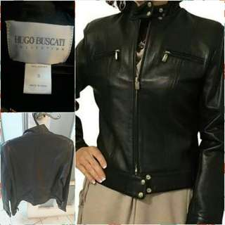 Pre-owned Hugo Buscati Leather Jacket