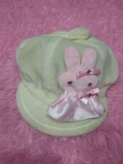 Topi bayi warna cream