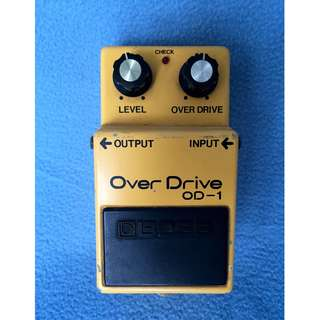 1980 Vintage Boss OD-1 Overdrive Silver Screw JRC4558D Chip Japan