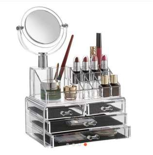 3 Layer Acrylic Make up Organizer