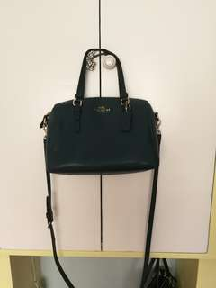 Authentic Coach Teal Sling Bag