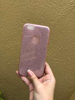 Pink glitter iPhone 6/6S case