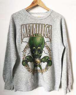 Vintage Metallica Sweatshirt in grey