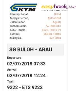 Tiket ETS SG. BULOH