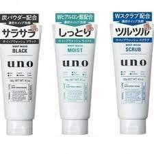 SHISEIDO 資生堂 UNO 男生專用磨砂洗面奶 130g $26