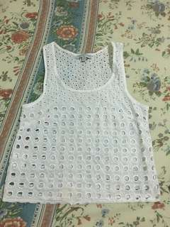 cotton on white crochet top