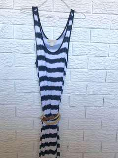 Michael Kors nautical striped floor length dress size S