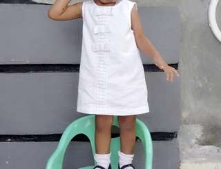 Gingersnap White Dress 2x pakai