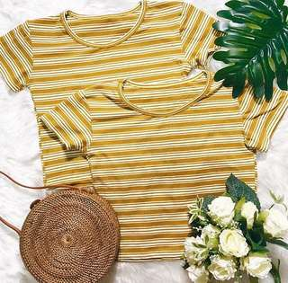 Mustard Sofie Stripes Top