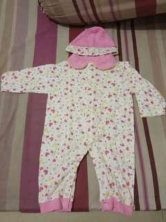 Jumper pink + topi