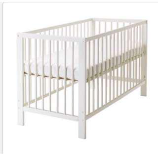 Baby Cot comes with mattress and bed sheet