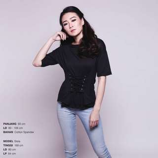 CORSETTED T-SHIRT