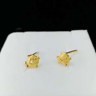 【TB】9999純金 魚耳環